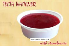Super white teeth naturally with strawberry - ♥ IndianBeautySpot.Com ♥