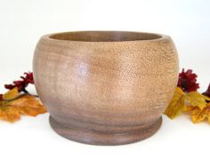 Walnut Wood Bowl by DebsWoodshop on Etsy, $45.00