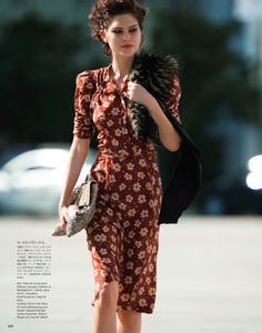 Catherine McNeil by Hans Feurer for Vogue Japan May 2013 | Photoshoot