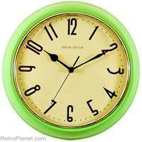 #Retro Apple Green Wall #Clock  http://www.retroplanet.com/PROD/30973#