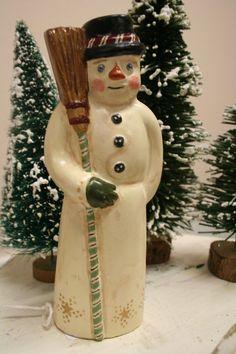 Chalkware Snowman
