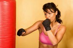 Heavy bag workout including kicks