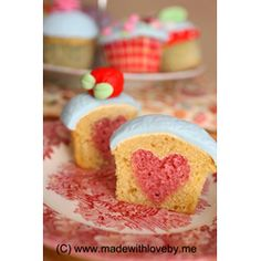 #HOW TO: #Bake a heart into your #cupcake  #Valentines #Day #Cupcakes
