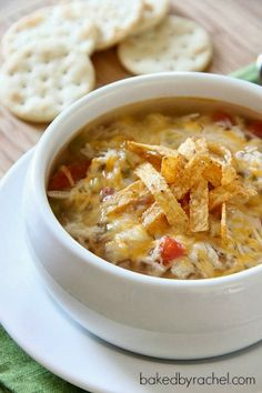 soups, crock pot, tortillasoup, chicken tortilla soup, slow cooker chicken, crockpot, food, yummi, recip