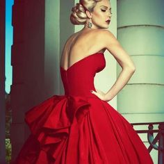 coutur red, fashion, coutur dress, ball gowns, red carpet, haute couture red, steven khalil, dress red, formal gown