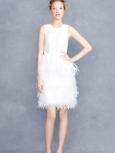 Feathers are in   - J.Crew Bridal