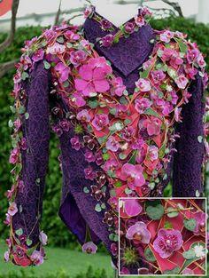 flower jacket by  Joe Massie  Flower Dress #2dayslook #ramirez701 #FlowerDress  www.2dayslook.com