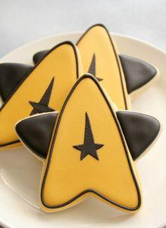 Geek Art Gallery: Sweets: Star Trek Cookies