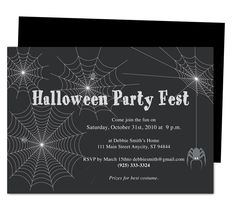 Web Halloween Party Templates. Printable DIY template edit in Word, Publisher, Apple iWork Pages, OpenOffice.