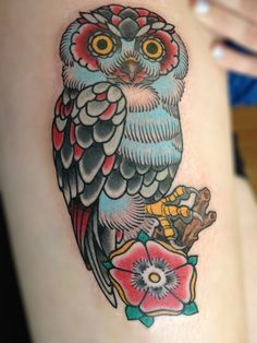 Roger Merling Meijer from The Netherlands made this awesome owl tattoo