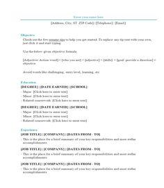 microsoft word portfolio template