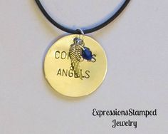 Cowboys & Angels Necklace , Hand Stamped Jewelry