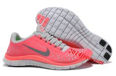 #Nike #Free 3.0 V4 Neon Pink Silver Women's Running Shoes