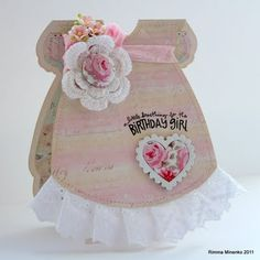 little dresses, card idea, little girl birthday cards, greet card, girl card, birthday girl, dress card, birth card, babi card