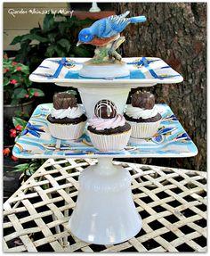 Blue Bird Garden Totem / Centerpiece / by GardenWhimsiesByMary, $50.00