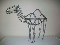 Camel Sculpture Topiary Yard Art by ladywelder on Etsy, $32.00