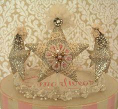 Gorgeous glittered star tiara