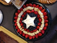 The Captain America fruit tray