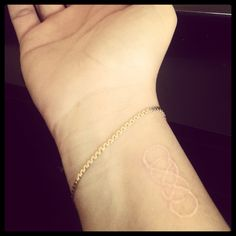 double infinity white tattoo