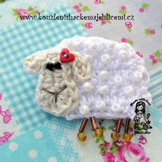 brooches, easter card, lamb brooch, crochet free patterns, baby blankets, lambs, applique patterns, crochet patterns, spring crafts