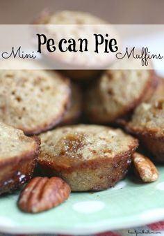 Mini Pecan Pie Muffins - you may never make another muffin again! So easy to make, yet incredibly rich and delicious (and I don't even like Pecan Pie)