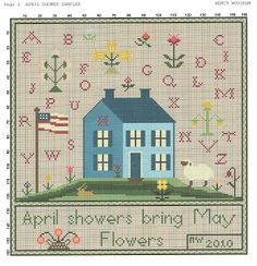 April Showers freebie from Liberty Primitives  Needlework