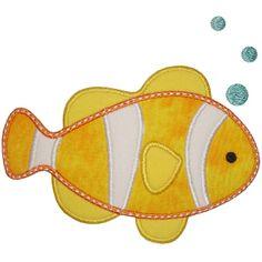 fish appliqu, clown fish, appliqu pattern
