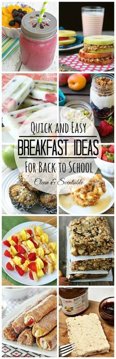 Lots of quick, easy, and healthy breakfast ideas! // cleanandscentsible.com
