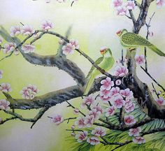Famous Asian Art   ORIENTAL ASIAN ART CHINESE FAMOUS WATERCOLOR PAINTING-FLOWERS,BIRD ...