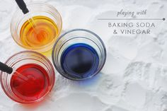 baking soda + vinegar = hours of funs for toddlers and kids