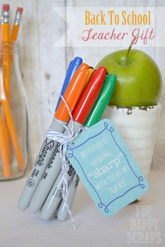 Back to School Teacher Gifts - A Little Tipsy