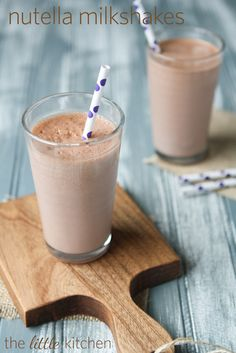 Nutella Milkshakes  made by @Julie Forrest | The Little Kitchen