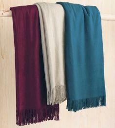 Fleecy Silk Fringed Throws - #InspiredGreenLiving