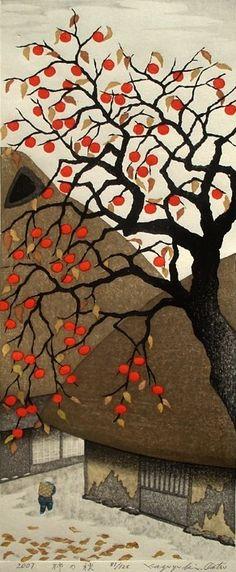 """Persimmon in Autumn"" by Kazuyuki Ohtsu, 2007"