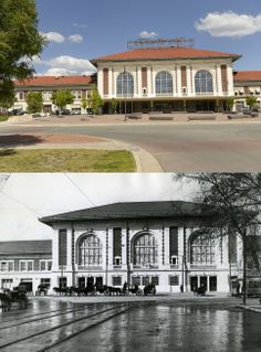 The Rio Grande Station is seen on May 20, 2014 and in August, 1910.