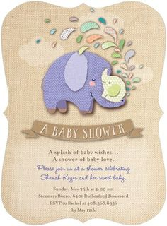 Crafted Cuties - Baby Shower Invitations - Hallmark - Violet Purple #baby