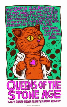 Jermaine Rogers Queens of the Stone Age Reno Poster