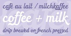 HT Cafe OT designed by Ryoichi Tsunekawa, published by Flat-it Type Foundry. #typography #fonts