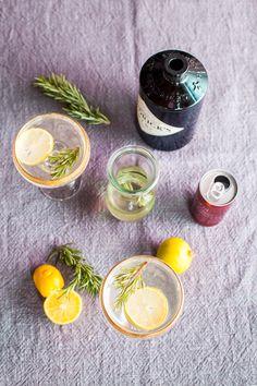 Rosemary Diamond Fizz - gin, champagne, lemon, rosemary