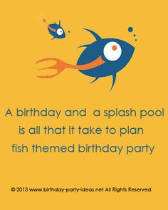 Throwing a Fish Themed Birthday Party - Birthday Party Ideas