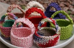 Ravelry: Little Crocheted Treat Baskets pattern by Fair Trade Family