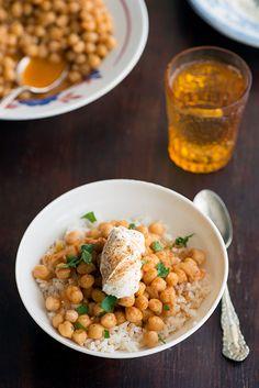 Nichole Taylor's rice and harissa chickpeas via design*sponge. Looks so good!