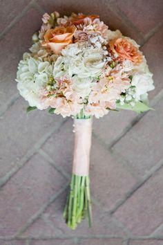 wedding colors- orange cream, white and blush