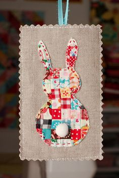 Adorable patchwork bunny!