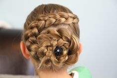 Dutch Braided {Pancaked} Flower hairstyle tutorial here...