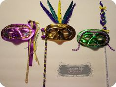 Make Your own Mardi Gras Masks from Consider Me Inspired
