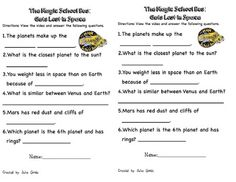 Magic School Bus Solar System Worksheet along with magic bus wet all ...