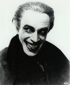 The German actor Conrad Veidt. He was the inspiration to the creators of Batman for the Joker with his portrayal of the character Gwynplaine in the 1928 film The Man Who Laughs. An adaptation of a Victor Hugo novel, the film was directed by German expressionist filmmaker Paul Leni, with Veidt in the title role