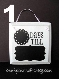 days till in chalkboard vinyl