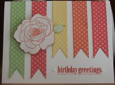 Close to My Heart Dotty for You Banner Birthday Card by Camile Steenhof